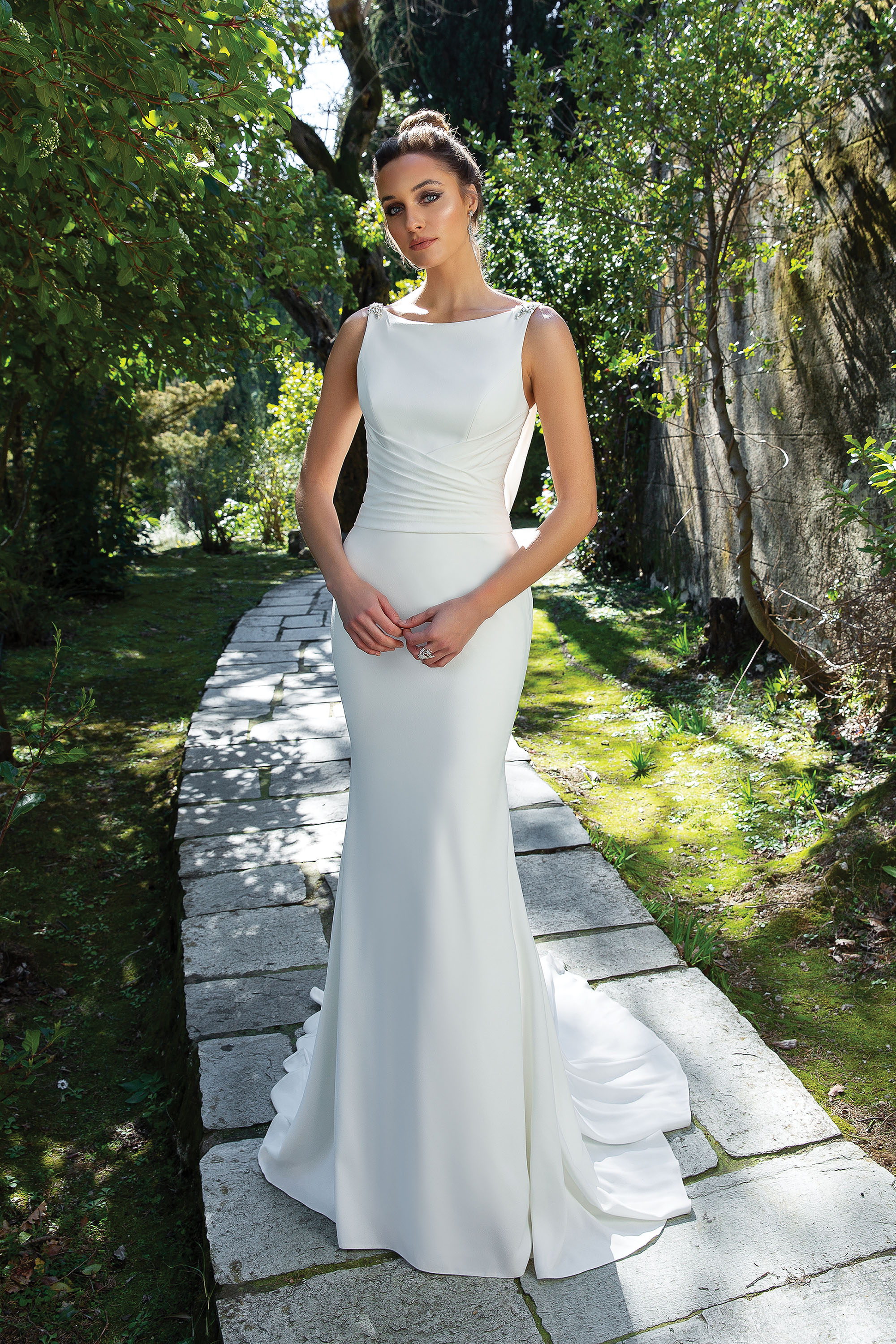 Minimalist, sheath wedding dress